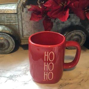 Rae Dunn Red HO HO HO Christmas  Mug